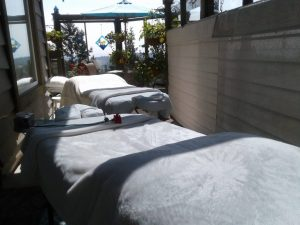 Outdoor massage studio