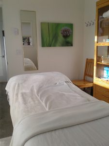 A massage in my new treatment room